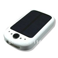 new 1x solar AA/AAA battery charger LED Flashlight cellular phone charget White free shipping by singpost