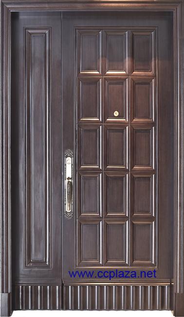 Porte d entree en bois moderne hotel