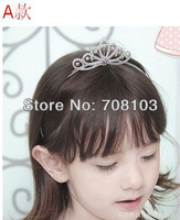 Free Shipping New classic Children Kids Girls Rhinestone Princess Hair Sticks Crown Headband Tiara