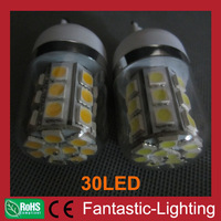 wholesale 100pcs/lot SMD5050 30LED G9 bulb with Clear PC cover LED Corn Light 220V-240V high bright LED bulb