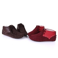 Free shipping  spring new womens girl bowknot Couture Dermis candy color Comfort Gommino shoes