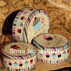 Free Shipping! 3pcs/lot Jumbo Metal Cookie Jar Candy Can Tin Box Choco-chip Design Creative Storage Box L size(China (Mainland))