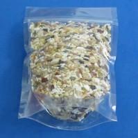 transparent stand plastic food bags 11x18cm zip lock pe bags