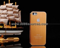 10 x Brushed Metal + Electroplating Gold Frame Aluminum Case For iPhone5 5G With Free Shipping
