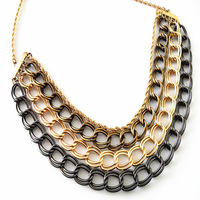 N018T  Fashion accessories vintage multi-layer quality short design necklace china TM-7.99  30D