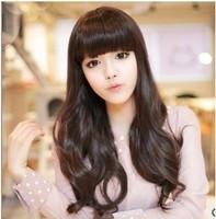 Sweet wig long roll bulkness matt long curly hair big wave Free Shipping