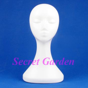 Plastic Female Mannequin Head For Imitation Hair Hat 120521LJ-MH02
