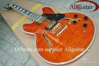 Orange jazz Hollow guitar 335 Musical electric guitar