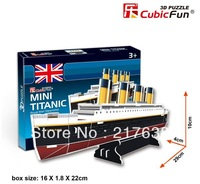 3D puzzle MINI TITANIC (royal mail steamship)  building model small size ,  educational DIY toys, free shipping.