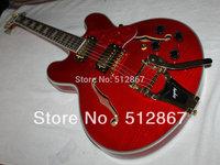 Top jazz Electric Guitar Musical instruments Red Hollow ES335 Jazz Guitar es335 BEST