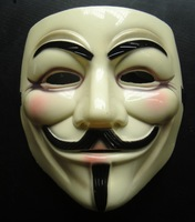 V vendetta mask yellow 1pcs free shipping 100% real tooken picture in stock ship today