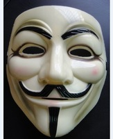 V vendetta mask yellow 50pcs free shipping 100% real tooken picture in stock ship today