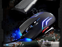 Blue-ray 2000 DPI USB 6D Professional Optical Gaming Game Mice Mouse For CS/CF Free shipping& Wholesale