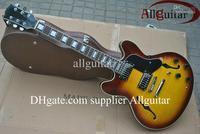 custom sunburst jazz Hollow 355 electric guitar Best-selling