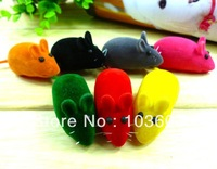 Pet candy color BIBI small mouse, small dog toys, horn flute little Mice, pet rubber toys, 6*3*2.5cm 20pcs/lot + Free Shipping