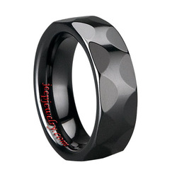 Brand New Ceramic Ring Champion Jewelry Black Ceramic Ring Faceted(China (Mainland))