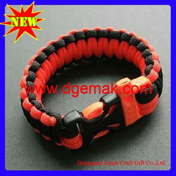Wholesale mix color  safety paracord survival bracelet