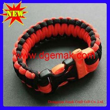 Wholesale mix color  safety paracord survival bracelet
