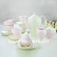 free DHL shipping european design porcelain coffee set 15pcs / set / lot