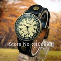 Retro Fashion Quartz Watches Leather Young Women Watch Casual Lady Wristwatches Sports Wrist New Hot Black