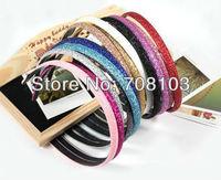Min.order is $10 (mix order) Fashion Glitter headband Alice band Hair Band Ring Rope Headwear Coiffure QB0155