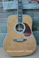 handmade acoustic guitar AAA Solid spruce Top ebony fingerboard /ebony bridge Abalone Binding Body