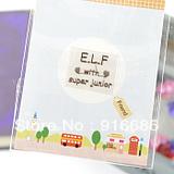 free shippingCPAM 100Pcs/lot sjsuperjunior dong hae elf EunHyuk hangeng Lee Teuk YESUN  24K gold-plated radiation phone stickers