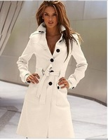 2012 trend before and after the buckle women's slim waist cashmere blended fabric overcoat female
