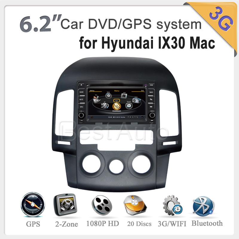 A8 car cd mp3 dvd player A8 1GMHZ CPU,DDR2 512M,Virtual 20 CD,3G internet,Car unit video audio for Hyundai I30 Manual 1.6L 2009(China (Mainland))