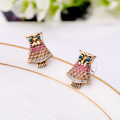 Fashion accessories oil owl vintage girls stud earring TN-3.99