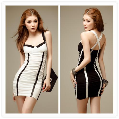Night Dress on Night Entertainment Venue Women Sexy Dresses Spaghetti Strap Low Cut