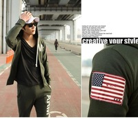 2013 New  Autumn winter Fashion clothing  Military Style  Men's Clothes Outdoor Sport Coat Health clothes Free shipping