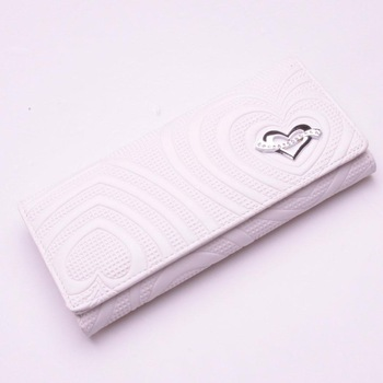 Wallet women's medium-long bag zipper coin pocket 2013 women's 19 white