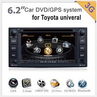 3G Car audio gps dvd for Toyota COROLLA INNOVA IELAS HIACE PREVIA ALPHARD RAV4 HILUX YARIS VIOS TUNDRA CELICA VIZI Limo SEQUOIA