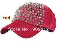 Free Shipping 2013 New Style, Adjustable rivet baseball cap, Bboy hat, Full tip rivets hip-hop cap, Snapback hats