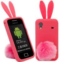 New Arrival Cute Silicon Solf Protective Bunny Rabito Rabbit Case For samsung Galaxy Ace S5830 Cover