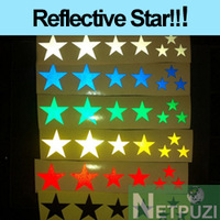Cool Reflective Star Bicycle Stickers - Cycle accessories FIXED GEAR decoration BIKE029 Free shipping!!!