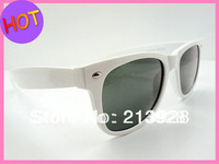 Fashion in Europe and America selling men and women sunglasses , beach mirror , white frame , 8pcs/ot Free Shipping