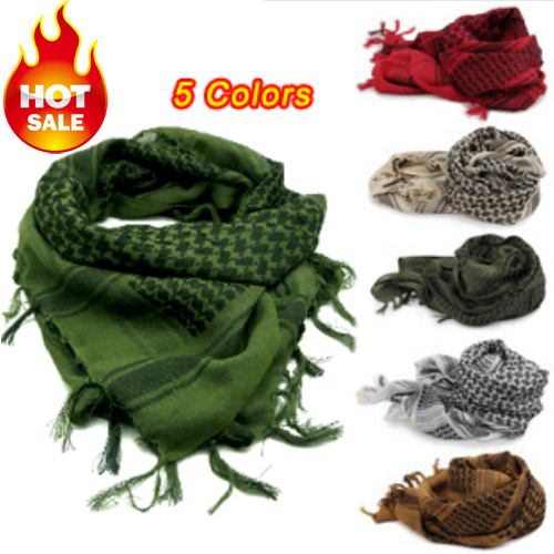 MOQ 1piece!Military windproof Muslim Hijab Shemagh Tactical Desert Arabic Keffiyeh Scarf 100% Cotton Thickened Wargame Scarf(China (Mainland))
