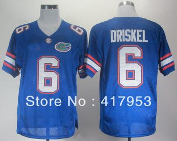 Free Shipping NCAA Colleage Football Jerseys Florida Gators Jeff Driskel 6 Royal Blue College Football Jersey