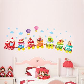 Free shipping wholesale pvc wall stickers ice cream car 50x70cm