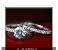 100%14k   1.40 Ct MOISSANITE ROUND WEDDING SET MICRO PAVE RINGS