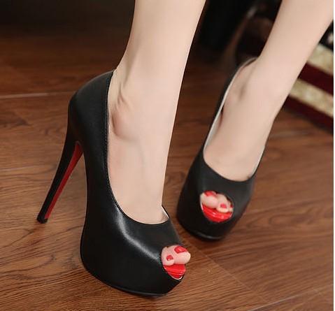 Platform Open Toe Heels