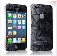New Fashion 3D Diamond screen protector with retail packaging Front+back full body for iphone 5,free shipping 10pcs/lot