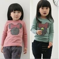 Spring models Minnie head wool Lycra bottoming shirt long-sleeved T-shirt