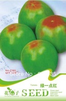 Free Shipping Green with one point red Tomato Seeds 5 packs per lot  / 20pcs per pack , vegetable seeds