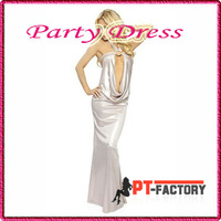 3pcs pvc lingerie white Party Dresses Gorgeous Fascinating Mermaid evening dress Clubwear Star  PVC Cocktail  Free shipping