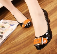 Женские оксфорды girls fashion buckle 2013 spring new for women Oxfords shoes woman casual ladies black nude color block SXX32522
