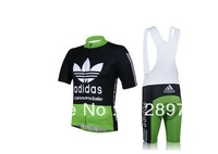 Free Shipping! New! 2013 Pro Team green Cycling Jersey / Cycling Clothing / Wear + Short Bib Pants / Shorts