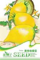 Free Shipping longevity peach yellow Tomato Seeds 5 packs per lot  / 20pcs per pack , vegetable seeds